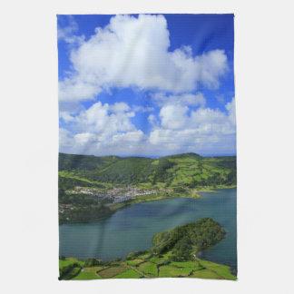 Sjöar i Azoresna Handhandukar