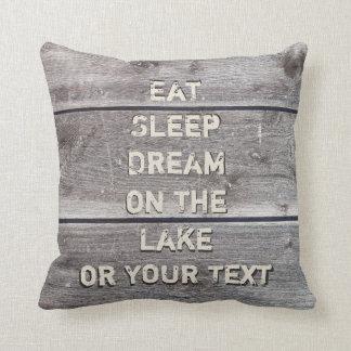 Sjöhusdekorativ kudde med din text