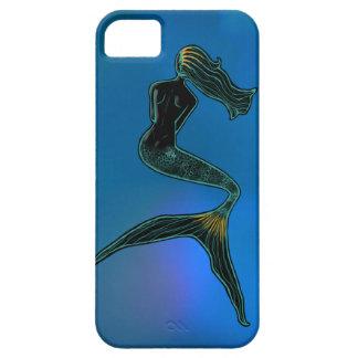 Sjöjungfru av månen (korallblått) iPhone 5 fodraler