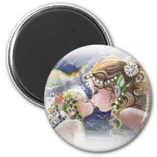 Sjöjungfru- & barnmagnet magnet