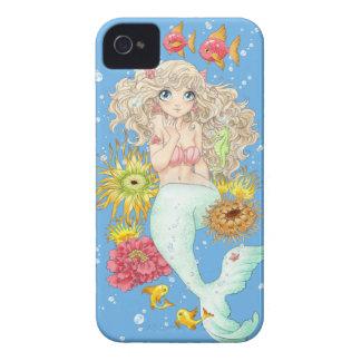 Sjöjungfru (blått) iPhone 4 Case-Mate fodraler