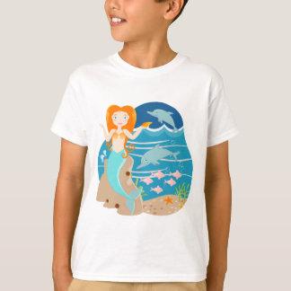Sjöjungfru och delfinfödelsedagsfest t shirts