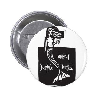 Sjöjungfru och fisk knappar