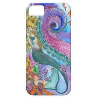 Sjöjungfru och Kraken mobilt fodral iPhone 5 Fodral
