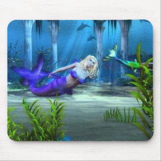 Sjöjungfru på lek musmatta