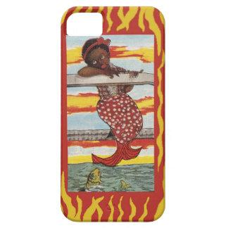Sjöjungfru på skeppsdockatelefonfodral iPhone 5 cover