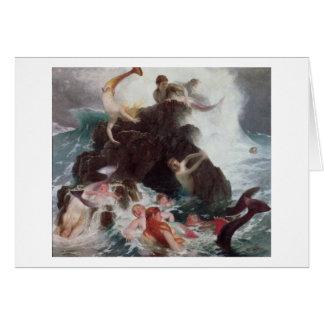 Sjöjungfruar på lek, 1886 (olja på kanfas) hälsningskort