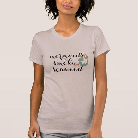 sjöjungfruar röker rolig t-skjorta för tröjor