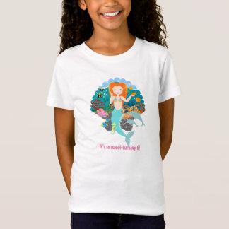 Sjöjungfrufödelsedagflicka T Shirt