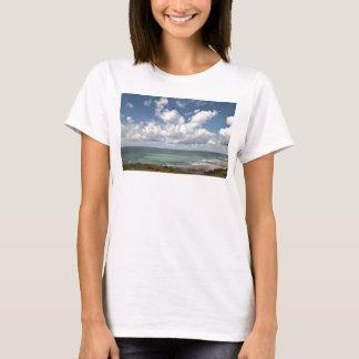 Sjölandskap av den franska atlantiska kusten t-shirts