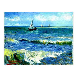 Sjölandskap på Saintes-Maries, Vincent Van Gogh Vykort