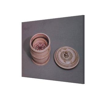 Sjöman kompass i ett elfenbenfodral canvastryck