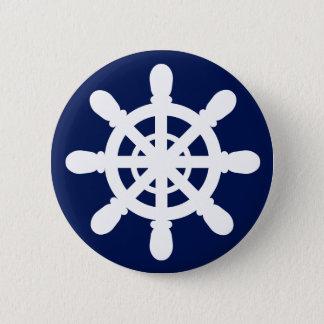 Sjömannen Wheel knäppas blått Standard Knapp Rund 5.7 Cm