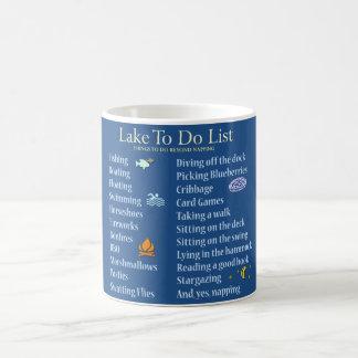 Sjön som ska göras, listar muggen kaffemugg