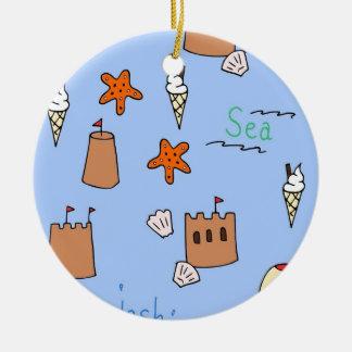 sjösida julgransprydnad keramik