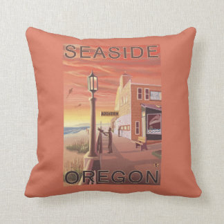 Sjösidan OregonAquarium beskådar Prydnadskuddar