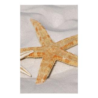 Sjöstjärna i sand brevpapper