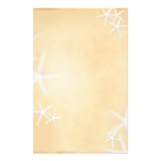 Sjöstjärna på brunt handstilpapper brevpapper