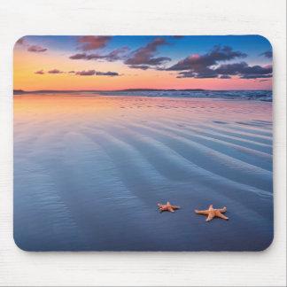Sjöstjärna på sanden musmatta