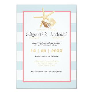 Sjöstjärnadestination som gifta sig den moderna 12,7 x 17,8 cm inbjudningskort
