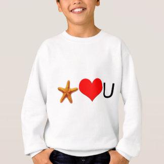 Sjöstjärnahjärtor dig tröja