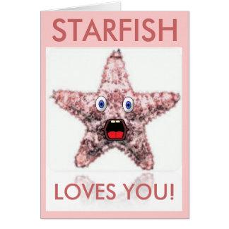 Sjöstjärnan älskar dig valentin dagkortet hälsningskort