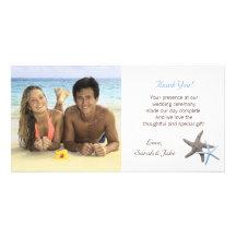 Sjöstjärnan kopplar ihop kort för bröllopfototack fotokort