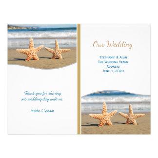 Sjöstjärnan kopplar ihop strandbröllopsprogram reklamblad