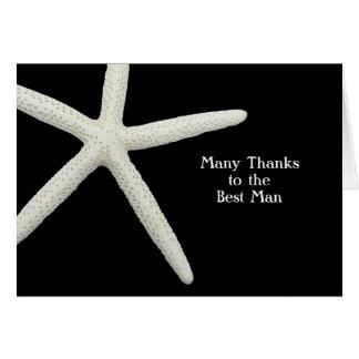 Sjöstjärnan på bäst man för svart tack noterar OBS kort
