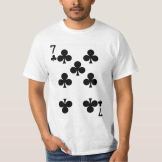 Sju av klubbar som leker kortet tshirts