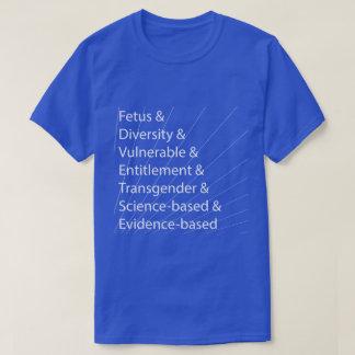 Sju dödliga ord - vit på blått t-shirt