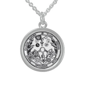 sju magical metaller sterling silver halsband