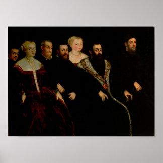 Sju medlemmar av den Soranzo familjen Poster