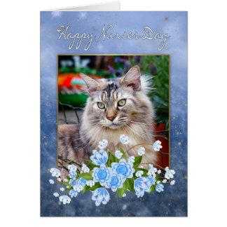 Sjuksköterska dagkort, Maine Coonkatt, Hälsningskort