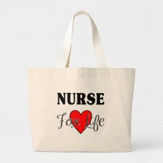 Sjuksköterska för liv jumbo tygkasse