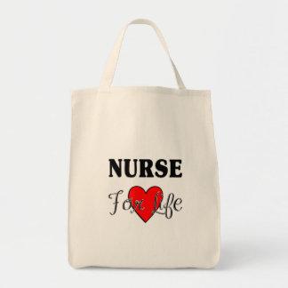 Sjuksköterska för liv mat tygkasse