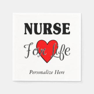 Sjuksköterska för liv papper servett