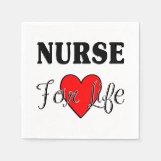 Sjuksköterska för liv pappersservetter