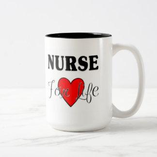 Sjuksköterska för liv RN & LPN-mugg Två-Tonad Mugg