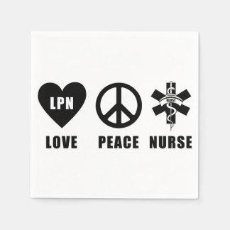 Sjuksköterska för LPN-kärlekfred Papper Servetter