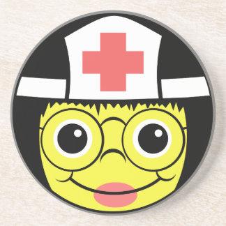Sjuksköterskaansikte Underlägg Sandsten
