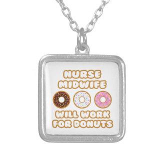 Sjuksköterskabarnmorska. Ska arbete för Donuts Halsband Med Fyrkantigt Hängsmycke