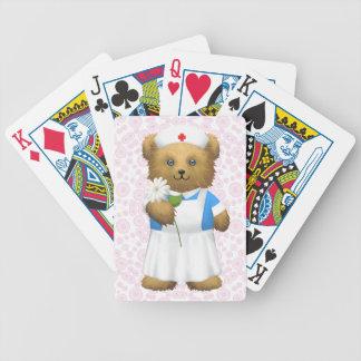Sjuksköterskabjörn - nalle spelkort
