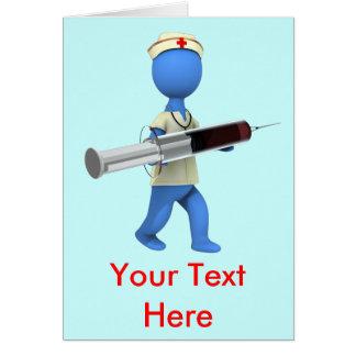 Sjuksköterskahumor Hälsningskort