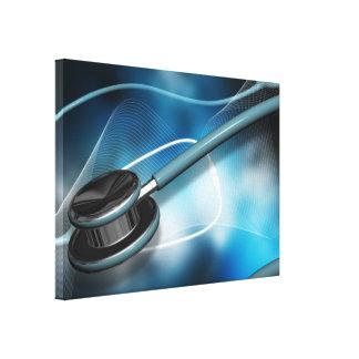 Sjuksköterskaläkarundersökningstetoskop Canvastryck