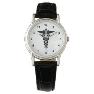Sjuksköterskaläkarundersökningsymbol Armbandsur