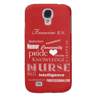 Sjuksköterskan Pride-Personifierar det röda namn/t Galaxy S4 Fodral