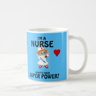 Sjuksköterskan vad är din toppen, driver vit mugg