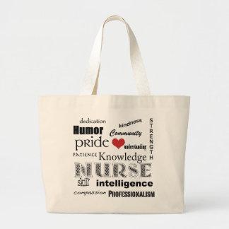 SjuksköterskaPride-Attribut+röd hjärta Jumbo Tygkasse