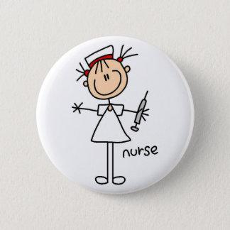 Sjuksköterskastick figur knäppas standard knapp rund 5.7 cm